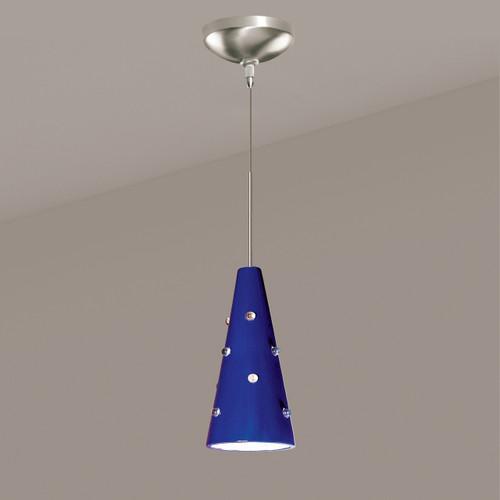 A19 Lighting LVMP18-CB 1-Light Wizard Mini Pendant Cobalt Blue
