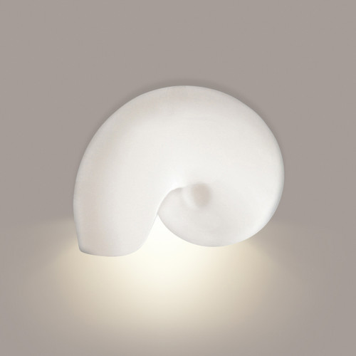 A19 Lighting 1103D 1-Light Nautilus Downlight Wall Sconce: Bisque