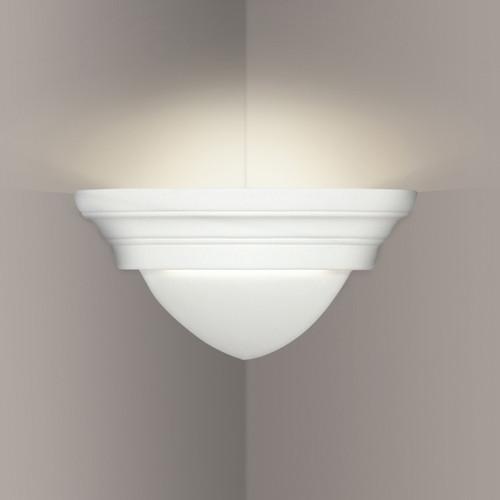 A19 Lighting 102CNR 1-Light Majorca Corner Sconce: Bisque