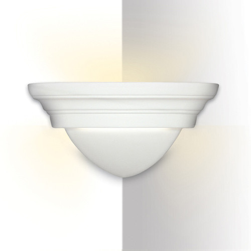 A19 Lighting 102CNR 1-Light Majorca Corner Sconce: Bisque