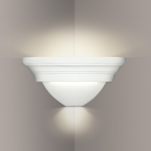 A19 Lighting 104CNR 1-Light Ibiza Corner Sconce: Bisque
