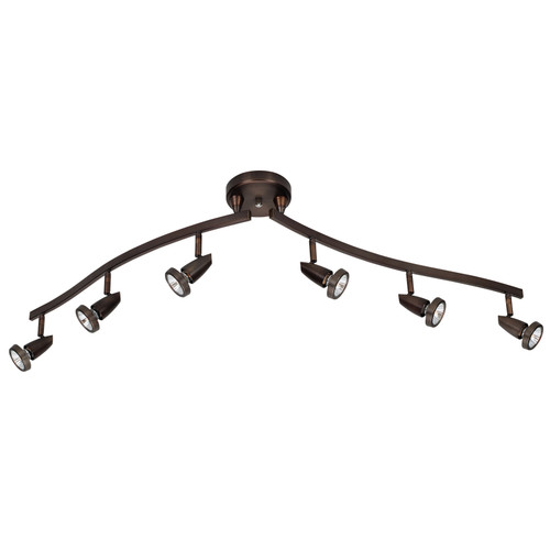 ACCESS LIGHTING 52226LEDD-BRZ Mirage 6-Light Semi-Flush with Articulating Arms, Bronze