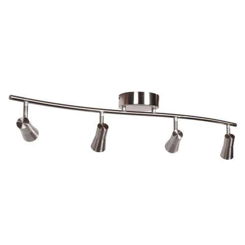 ACCESS LIGHTING 63067LEDD-BS Sleek 4-Light Dimmable LED Spotlight Semi-Flush, Brushed Steel