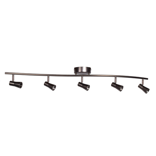 ACCESS LIGHTING 63068LEDD-BRZ Sleek 5-Light Dimmable LED Spotlight Semi-Flush, Bronze