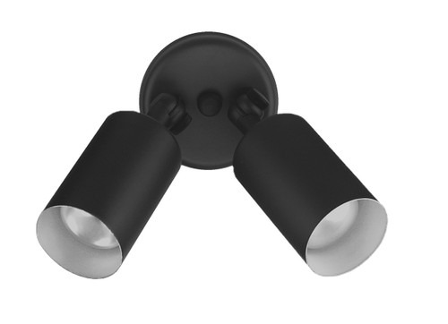 NICOR LIGHTING 11521 50W Black Double Bullet Adjustable Flood Light