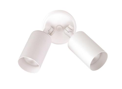 NICOR LIGHTING 11522 50W White Double Bullet Adjustable Flood Light