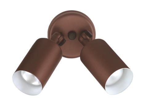 NICOR LIGHTING 11528 50W Bronze Double Bullet Adjustable Flood Light