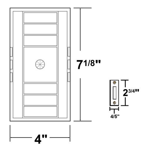 NICOR LIGHTING 18002 Single Door Door Bell Chime Kit with Rectangular Push Button, White
