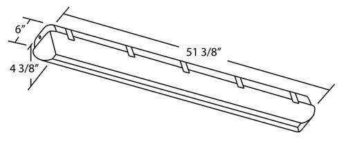 NICOR LIGHTING 20340 52 inch 2-Lamp T8 Fluorescent Vaportite Outdoor Light