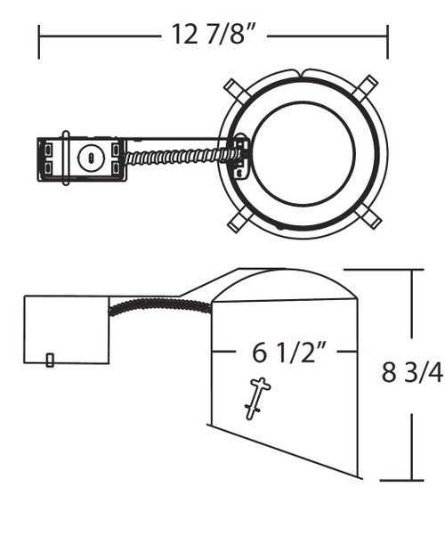 NICOR LIGHTING 17022RA 6 inch Sloped Recessed Housing for Remodel Applications, IC Rated