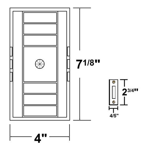 NICOR LIGHTING 18002LRT Single Door Door Bell Chime Kit with Rectangular Lighted Push Button, White