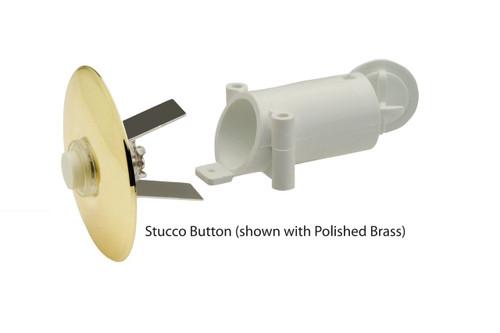 NICOR LIGHTING ECSBPB Prime Chime Stucco Button, Polished Brass