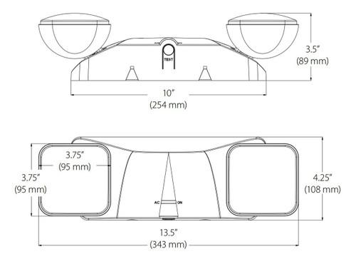 NICOR LIGHTING EML1-10-UNV-WH Emergency Adjustable LED Fixture