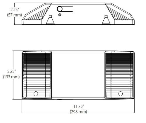 NICOR LIGHTING EML2-10-UNV-WH Compact LED Emergency Fixture