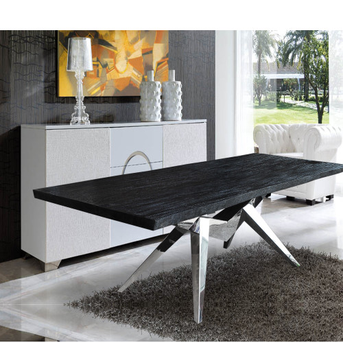 Fine Mod Imports FMI1000-black Rugby Dining Table, Black