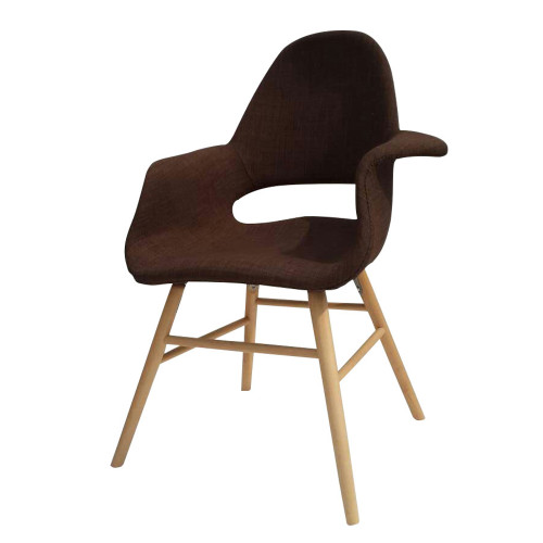 Fine Mod Imports FMI10033-brown Eero Dining Chair, Brown