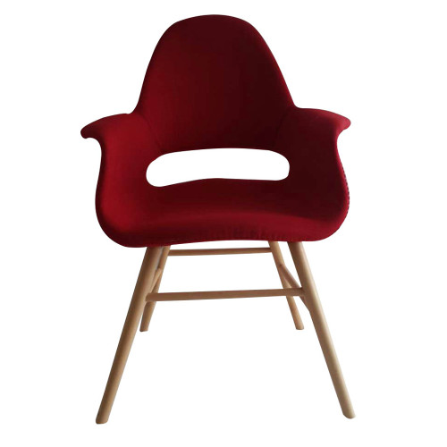 Fine Mod Imports FMI10033-red Eero Dining Chair, Red
