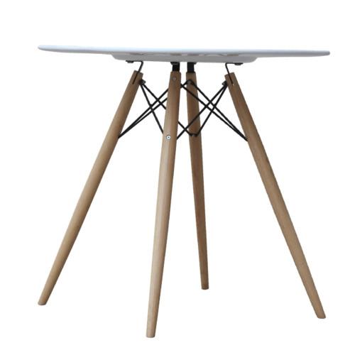 """Fine Mod Imports FMI10039-42-white WoodLeg Dining Table 42"""" Fiberglass Top, White"""