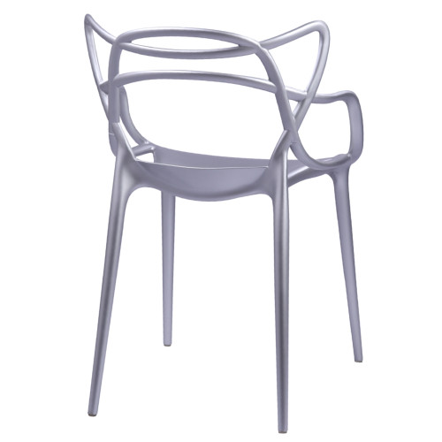 Fine Mod Imports FMI10067-silver Brand Name Dining Chair, Silver