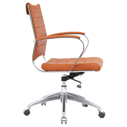 Fine Mod Imports FMI10077-light brown Sopada Conference Office Chair Mid Back, Light Brown