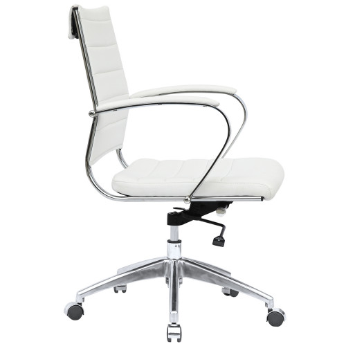 Fine Mod Imports FMI10077-white Sopada Conference Office Chair Mid Back, White