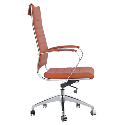 Fine Mod Imports FMI10078-light brown Sopada Conference Office Chair High Back, Light Brown