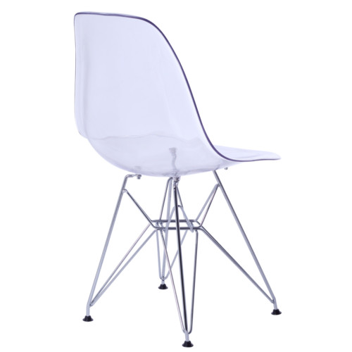 Fine Mod Imports FMI10088-clear GlossWire Dining Side Chair, Clear