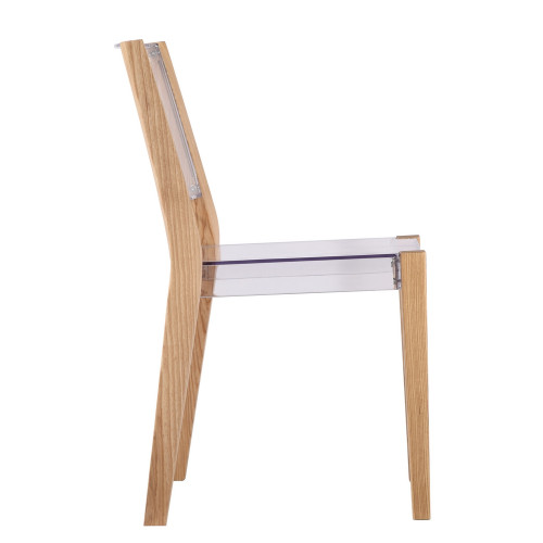 Fine Mod Imports FMI10094-natural Lhosta Dining Side Chair, Natural