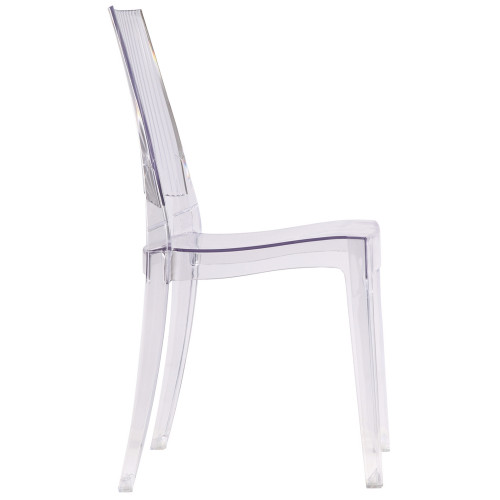 Fine Mod Imports FMI10104-clear Tolta Dining Side Chair, Clear