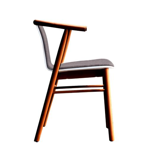 Fine Mod Imports FMI10105-walnut Wishflat Dining Side Chair, Walnut