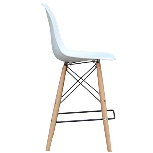 Fine Mod Imports FMI10110-30-white Woodleg Bar Chair, White