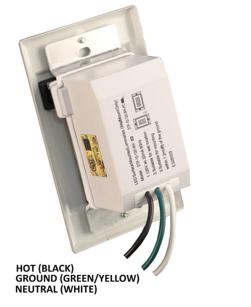 NICOR LIGHTING STP-10-120-HBK LED Step Light with Black Horizontal Faceplate