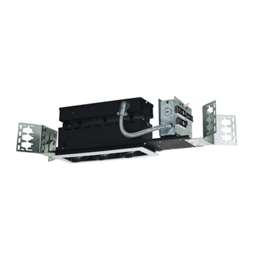 JESCO LIGHTING MMGGU1050-3WB 3-Light Line Voltage New Construction Modulinear Directional Recessed Lighting Fixture
