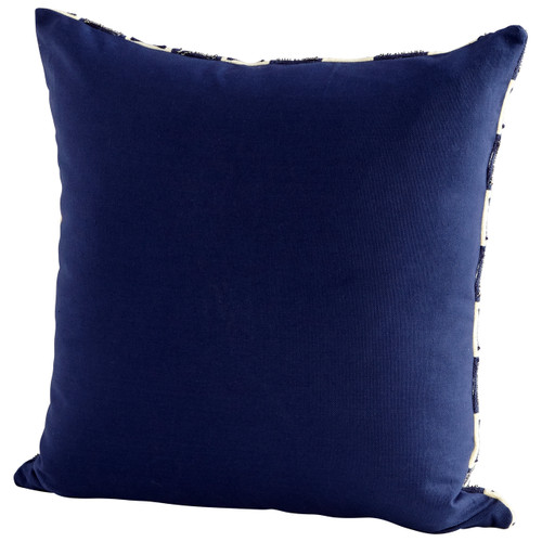 CYAN DESIGN 09327 Retro Boogie Pillow, Blue and White