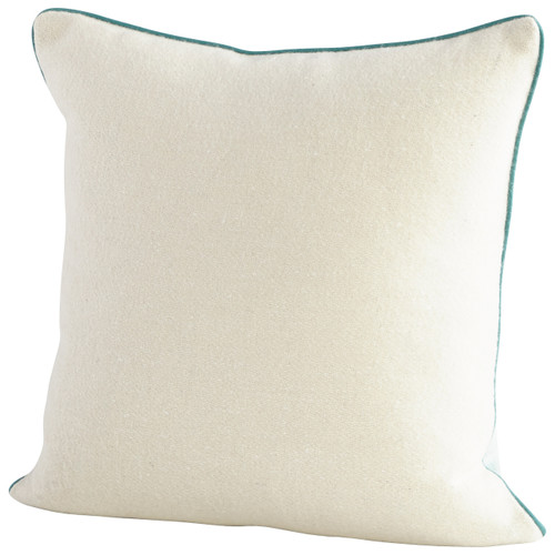 CYAN DESIGN 09323 Gradient Pillow, Blue and White