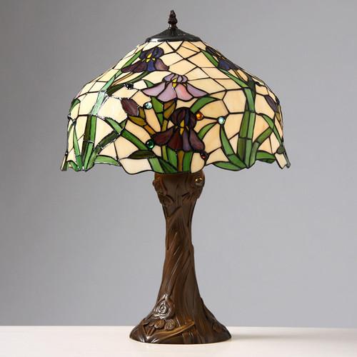 WAREHOUSE OF TIFFANY 2380+BB664 Tiffany-style Iris Table Lamp