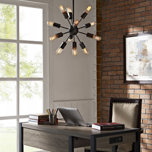 WAREHOUSE OF TIFFANY LD4023 Jackstone 12-light Bronze Edison Lamp with Bulbs
