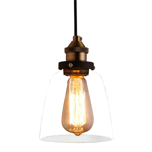 WAREHOUSE OF TIFFANY LD4025 Warehouse of Tiffany Shantelle Adjustable Cord 6-inch Pendant Light with Light Bulb