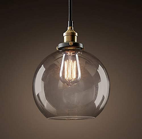 WAREHOUSE OF TIFFANY LD4683 Maisie 8-inch Adjustable Height Edison Pendant with Bulb