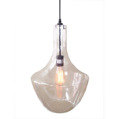 WAREHOUSE OF TIFFANY LD4705 Love 1-light Adjustable Cord Glass Edison Pendant with Bulb