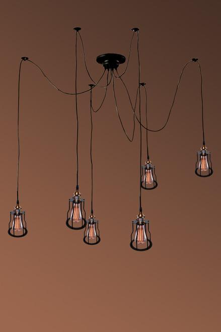 WAREHOUSE OF TIFFANY LD4901 Zendaya 10-bulb Edison Chandelier with Bulbs