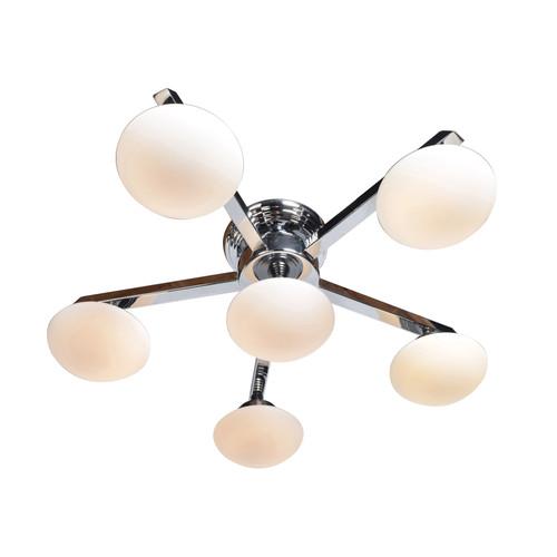 ACCESS LIGHTING 62496LEDD-CH/OPL Atomiser 6-Light Dimmable LED Semi-Flush