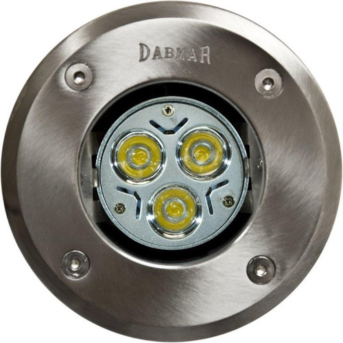 DABMAR LIGHTING FG319-LED3 Fiberglass LED In-Ground Well Light with Stainless Steel Top, Stainless Steel (Top)