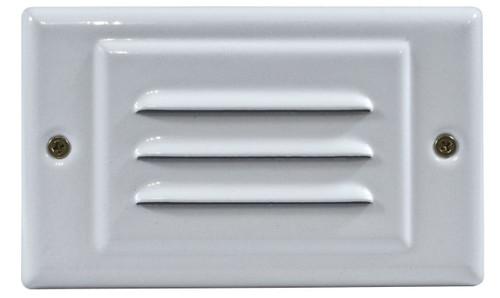 DABMAR LIGHTING DSL-LED1200-3-W Step Light Louver Down & Open Face Cover 3 Watt LED 120 Volts, White