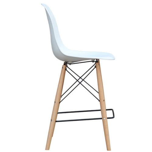 FINE MOD IMPORTS FMI10110-25s-WHITE Woodleg Counter Chair Square Base, White
