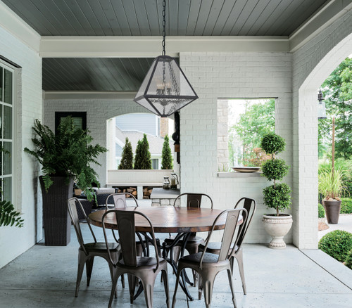 CRYSTORAMA GLA-9705-WT-BC Brian Patrick Flynn For Glacier 3 Light Black Charcoal Outdoor Chandelier