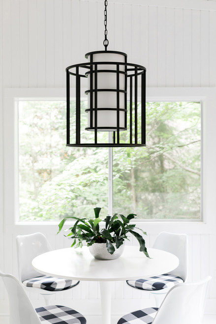 Brian Patrick Flynn for Crystorama Hulton 6 Light Matte Black Chandelier