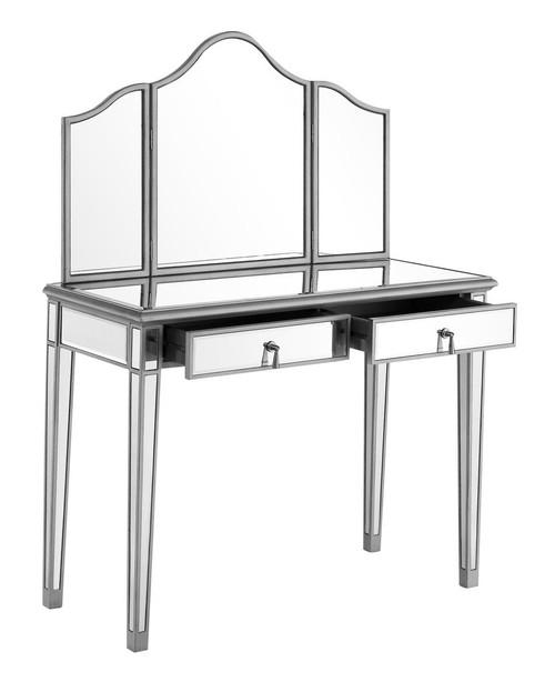 ELEGANT DECOR MF6-2001S Vanity Table 42 in. x 18 in. x 31 in. and Mirror 39 in. x 1 in. x 42 in.