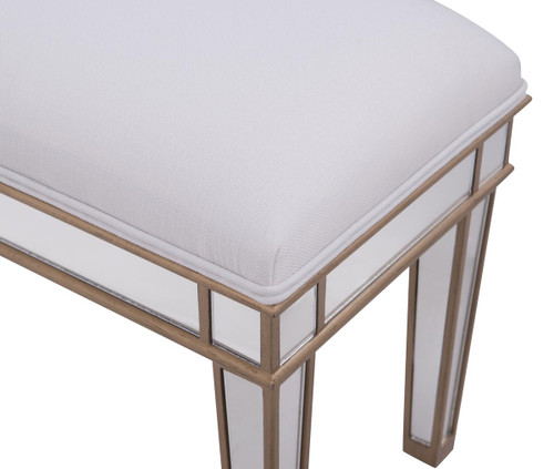 ELEGANT DECOR MF6-1107G Dressing stool 18 in. x 14 in. x 18 in. in Gold paint