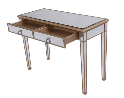 ELEGANT DECOR MF6-1106G 2 Drawers Dressing table 42 in. x 18 in. x 31 in. in Gold paint